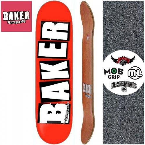 【ベーカー BAKER スケボー デッキ】BRAND LOGO WHITE DECK[8.0インチ]NO119
