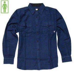 【GIRL ガールスケートボード ウービン シャツ】VAN PELT チェックシャツ【インディゴ チェック】NO1