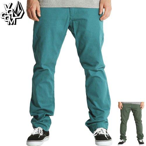 【ボルコム VOLCOM ボトム】FACETED CHINO PANTS チノ パンツ【オーシャン ブルー】【グリーン】NO13