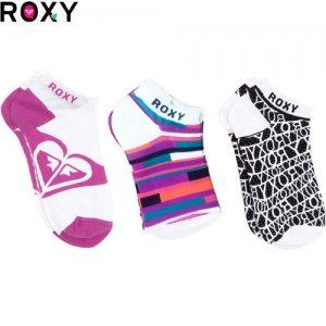 【ロキシー ROXY ソックス】SUN TIME SOCKS【レディースソックス】【3足セット】NO03