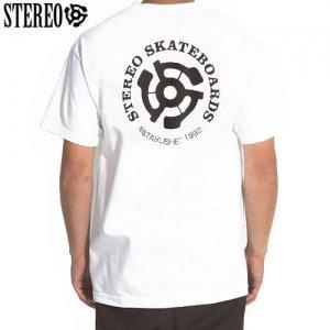 【ステレオ STEREO スケボー Tシャツ】STEREO EST 92 TEE【ホワイト】NO6