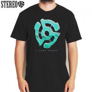 SALE! 【ステレオ STEREO スケボー Tシャツ】STEREO SOUND LOGO TEE【ブラック】NO9