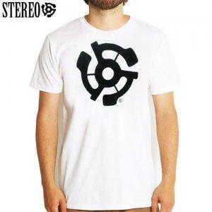 【ステレオ STEREO スケボー Tシャツ】STEREO LOGO TEE【ホワイト】NO14