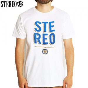 SALE! 【ステレオ STEREO スケボー Tシャツ】STEREO STACKED TEE【ホワイト】NO19