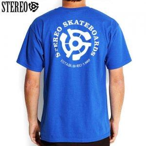 【ステレオ STEREO スケボー Tシャツ】STEREO EST 92 TEE【ブルー】NO20