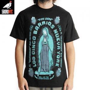 【ファイブボロ 5BORO スケボー Tシャツ】CINCO BARRIOS TEE【ブラック x ミント】NO2