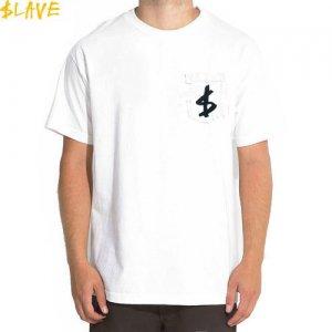 【スレイブ SLAVE スケボー Tシャツ】SLAVE MONEY POCKET TEE【ホワイト】NO2