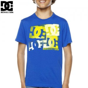 【DC ディーシーシューズ ユース Tシャツ】THERAPY BIG YOUTH TEE【ロイヤル ブルー】NO15