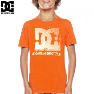 【DC ディーシーシューズ ユース Tシャツ】ENFILADE BIG YOUTH TEE【オレンジ】NO17