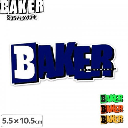 【ベーカー BAKER SKATEBOARD ステッカー】RESET LOGO【4色】【10.5 x 5.5cm】NO40