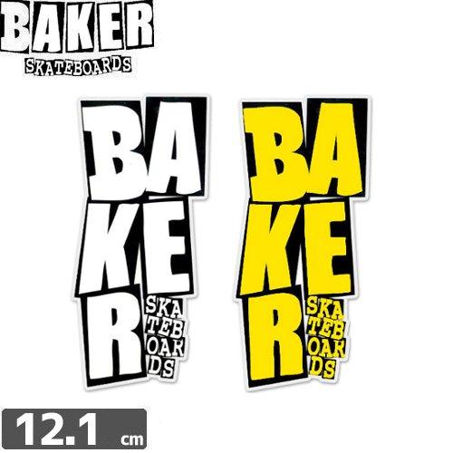 【ベーカーBAKERSKATEBOARDステッカー】STACKED【2色】【12.1cm x 5.7cm】NO48