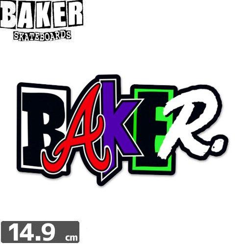 【ベーカー BAKER SKATEBOARD ステッカー】CHOP SHOP STICKER【マルチ】【7.9cm x 14.9cm】NO53
