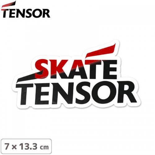 【TENSOR テンサー ステッカー 】NEW LOGO STICKER【レッド x ブラック】【7 x 13.3cm】NO11