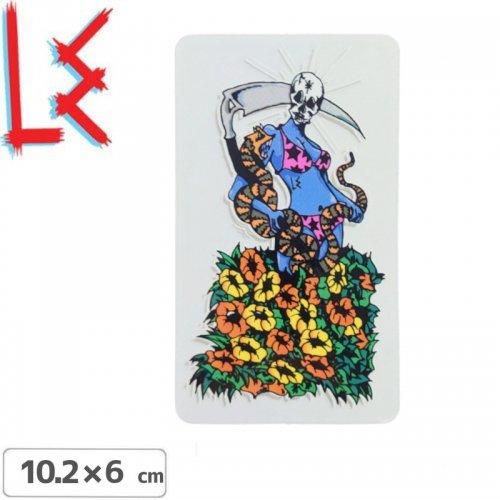 【エルイー LE SKATEBOARDS ステッカー】REAPER STICKER【10.2cm x 6cm】NO13