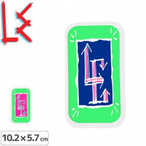 【エルイー LE SKATEBOARDS ステッカー】GLYPH STICKER【2色】【10.2cm x 5.7cm】NO15