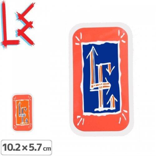 【エルイー LE SKATEBOARDS ステッカー】GLYPH STICKER【2色】【10.2cm x 5.7cm】NO16