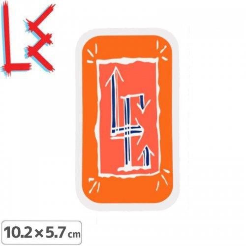 【エルイー LE SKATEBOARDS ステッカー】GLYPH STICKER【10.2cm x 5.7cm】NO18