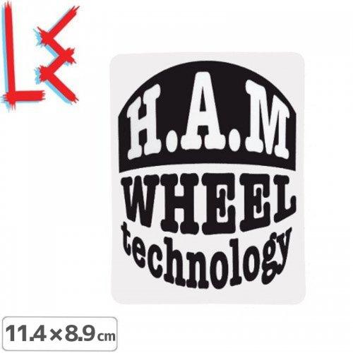 【エルイー LE SKATEBOARDS ステッカー】H.A.M WHEEL TECHNOLOGY【11.4cm x 8.9cm】NO24