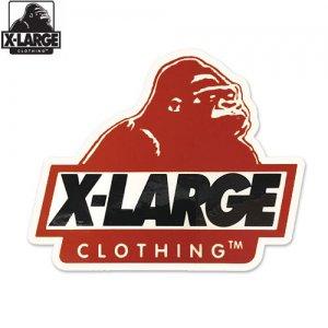 【エクストララージ X-LARGE ステッカー】LOGO STICKER【バーガンディ】【9.6 x 8.4cm】NO6