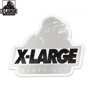 【エクストララージ X-LARGE ステッカー】LOGO STICKER【シルバー】【9.6 x 8.4cm】NO7