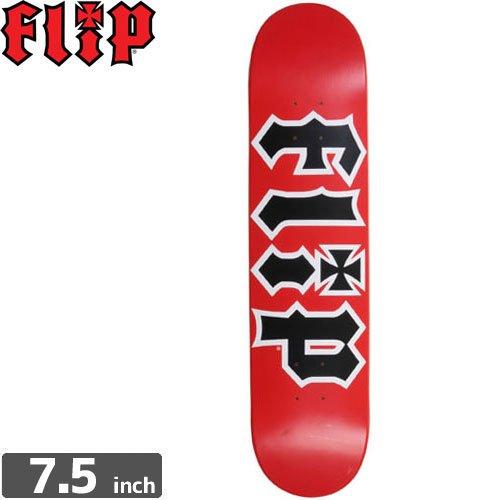 【フリップ FLIP スケボー デッキ】TEAM HKD RED DECK[7.5インチ]NO73