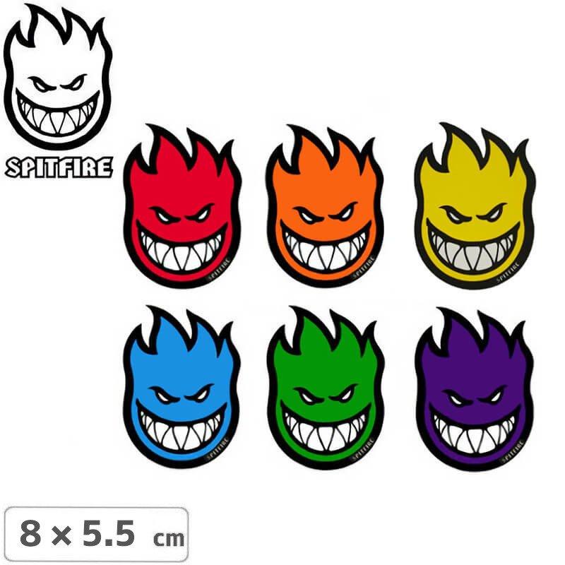 【スピットファイア SPITFIRE スケボー ステッカー】Fireball 5カラー【8cm x 5.5cm】No52