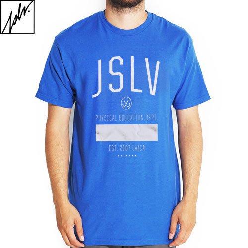 【ジャスリブ JSLV スケボー Tシャツ】JSLV TRAINER TEE【ブルー】NO2