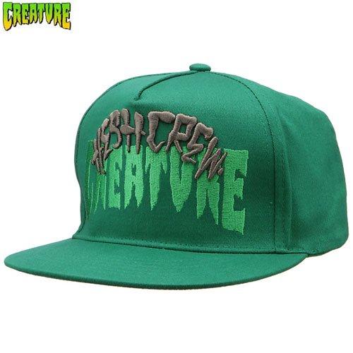 【クリーチャー CREATURE スケボー キャップ】HESH CREW ADJUSTABLE TWILL HAT【グリーン】NO36