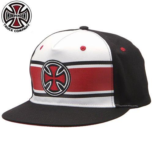 【INDEPENDENT インディペンデント キャップ】STRIP CROSS ADJUSTABLE TWILL HAT【ホワイト】NO35