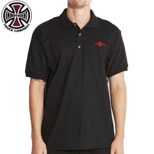 【インディペンデント INDEPENDENT ポロシャツ】OGBC CHEST POLO SHIRT【ブラック】NO1