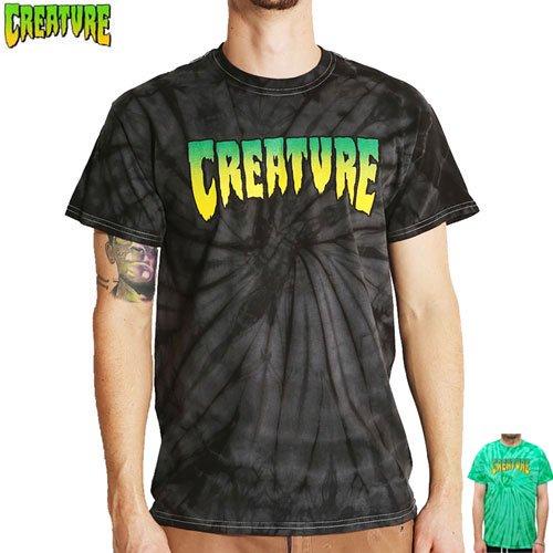 SALE! 【CREATURE クリーチャー スケボー Tシャツ】LOGO TIE DYE TEE【ブラック】【グリーン】NO96