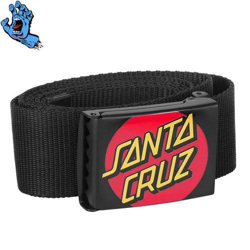 【サンタクルーズ SANTA CRUZ スケボー ベルト】CLASSIC DOT WEB BELT【ブラック】NO1