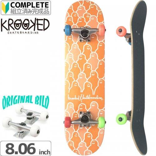 【クルックド KROOKED スケートボード コンプリート】TEAM KROUDED PP[7.75インチ]オリジナルビルド NO8