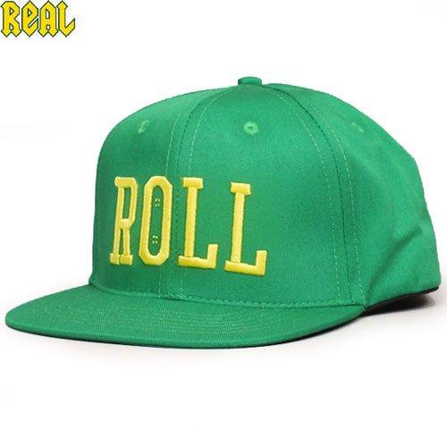 【REAL リアル スケボー キャップ】ROLL SNAPBACK CAP【グリーン】NO22