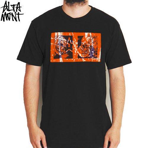 【オルタモント ALTAMONT スケボー Tシャツ】PUSHEAD SKULL TWIN VIEW TEE【ブラック】NO20