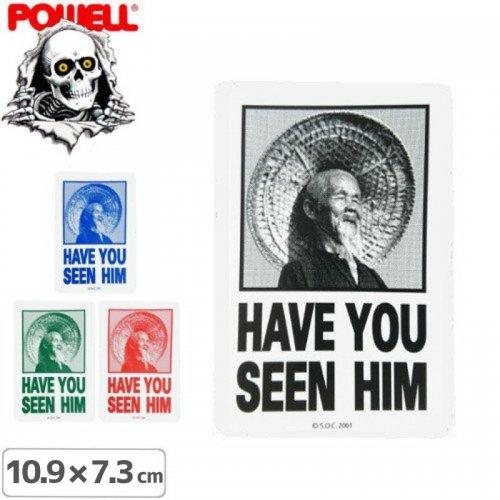 【パウエル POWELL スケボー ステッカー】HAVE YOU SEEN HIM【4色】【10.9cm x 7.3cm】NO25