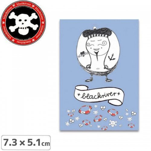 【BLACKRIVER ステッカー】PIRAT STICKER【7.3cm x 5.1cm】NO6