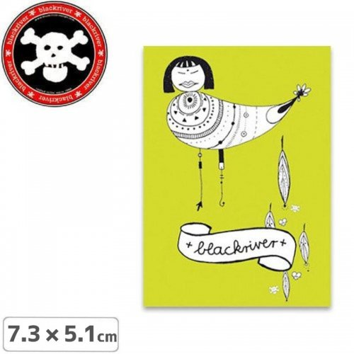 【BLACKRIVER ステッカー】BIRD STICKER【7.3cm x 5.1cm】NO7