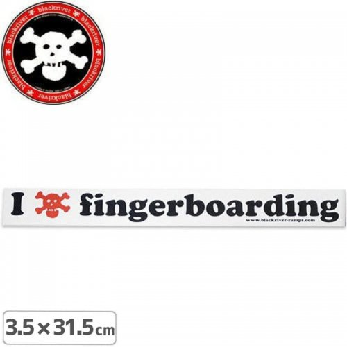 【BLACKRIVER ステッカー】I LOVE FINGERBOARDING STICKER【3.5cm x 31.5cm】NO9