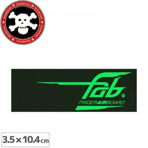 【BLACKRIVER ステッカー】FAB FINGER AIR BOARD STICKER【3.5cm x 10.4cm】NO10