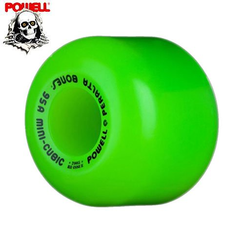 【パウエル POWELL スケボー ウィール】MINI CUBIC WHEELS GREEN【64mm 95A】NO12