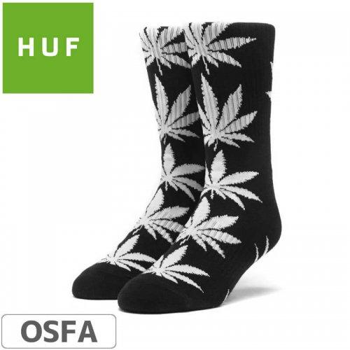 【HUF ハフ スケボー ソックス】靴下 PLANT LIFE SOCKS【ブラック x ホワイト】NO19