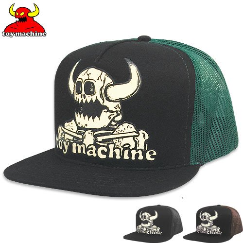 【トイマシン TOY MACHINE スケボー キャップ】DEAD MONSTER MESH TRUCKER HAT【3COLOR】NO36