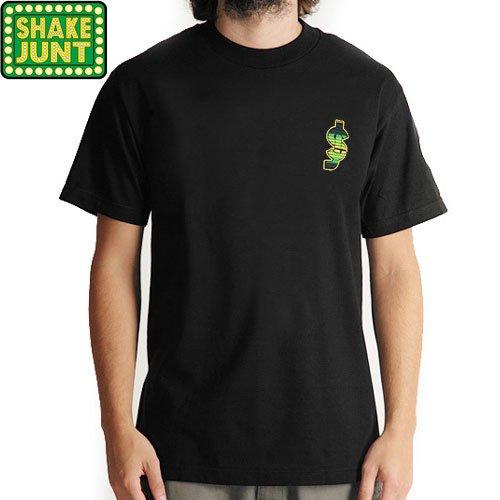 【シェイクジャント SHAKE JUNT スケボー Tシャツ】SJ CLASSIC SARAPE PREMIUM TEE【ブラック】NO8