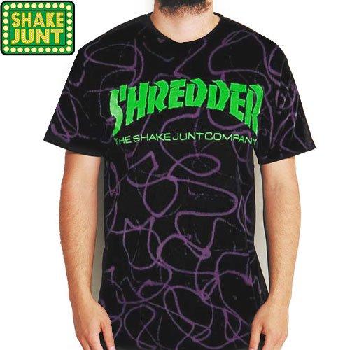 【シェイクジャント SHAKE JUNT スケボー Tシャツ】LIZARD SHREDDER TEE【ブラック】NO10