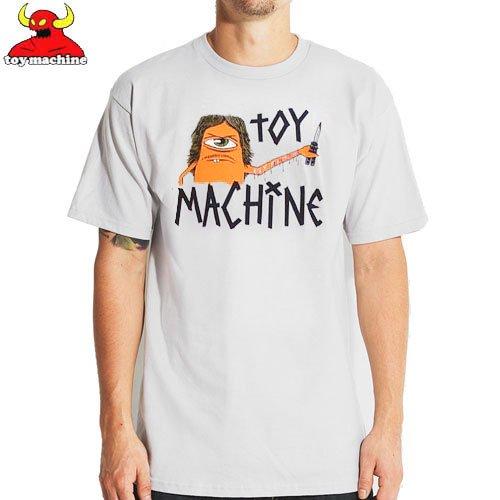 【トイマシーン TOY MACHINE スケボー Tシャツ】SECT CUTTER TEE【グレー】NO203