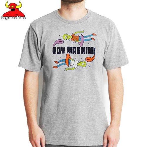 【トイマシーン TOY MACHINE スケボー Tシャツ】TURTLE DOLL TEE【グレー ヘザー】NO205