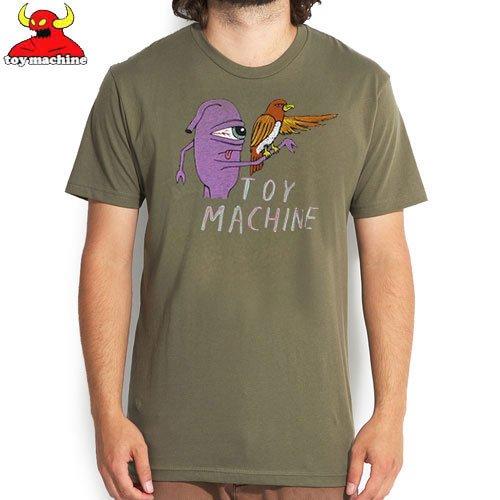 【トイマシーン TOY MACHINE スケボー Tシャツ】FALCONER TEE【アーミー グリーン】NO206