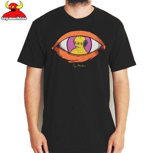 【トイマシーン TOY MACHINE スケボー Tシャツ】VISUAL TEE【ブラック】NO218
