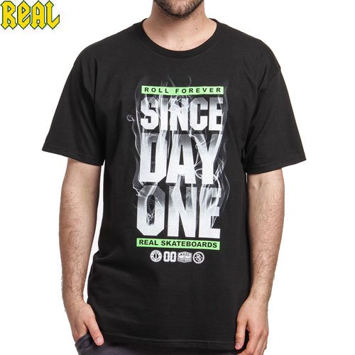 【REAL リアル スケートボード Tシャツ】SDO UP IN SMOKE TEE【ブラック】NO61